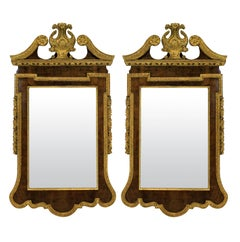 Pair of Large English George II Style Mirrors