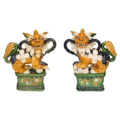 Pair of Large Important Chinese Fu Dogs