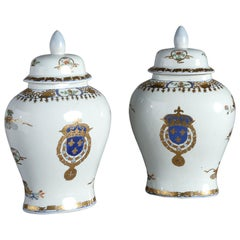 A Pair of Late 19th Century Samson Vases