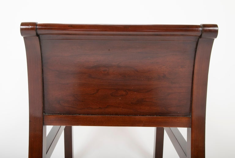 Pair of Leather Benches Designed by Jacques Grange for John Widdicomb For Sale 4