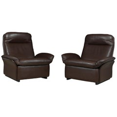 Pair of Leather De Sede DS49 Armchairs