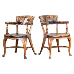Pair of Library Desk Chairs