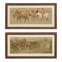 Pair of Lionel Edwards Equestrian Fox Hunting Prints