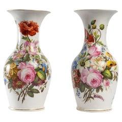 Pair of Louis Philippe Porcelain Vases