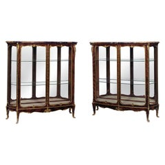 Pair of Louis XV Style Gilt-Bronze Mounted Vitrines by Zwiener