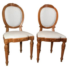 Pair of Louis XVI Chairs, Switzerland, 1780
