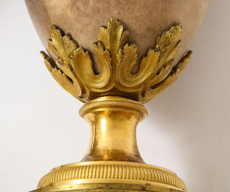Pair of Louis XVI North European Neoclassical Ormolu and Marble Potpourris For Sale 9