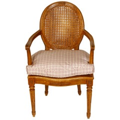 Pair of Louis XVI Style Beechwood Armchairs