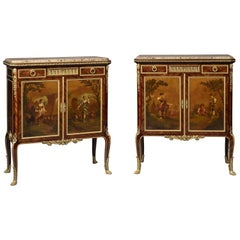 Pair of Louis XVI Style Side Cabinets Attributed to François Linke, circa 1900