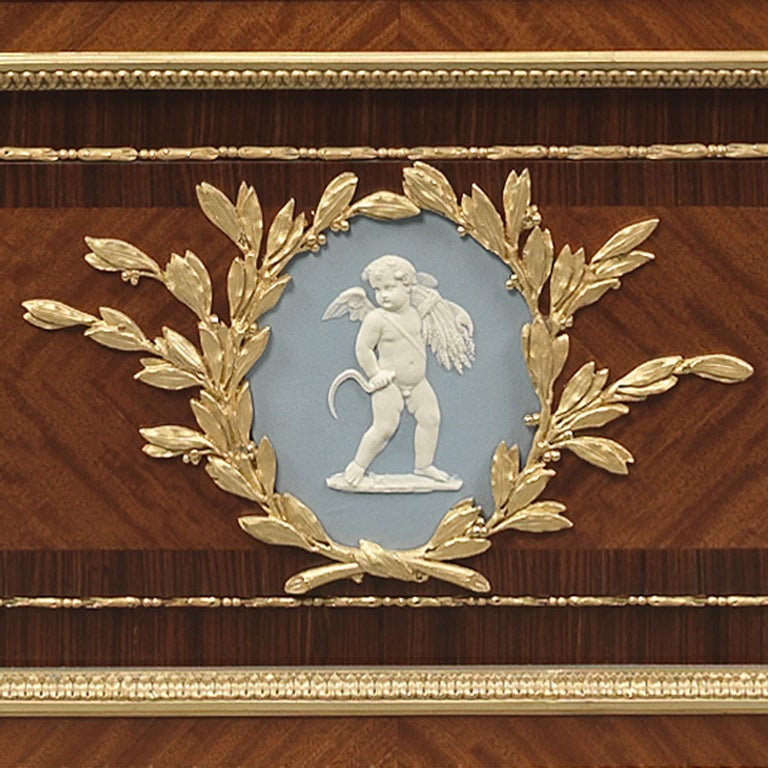 Pair of Louis XVI Style Vitrines with Wedgwood Plaques by Zwiener, circa 1880 For Sale 2