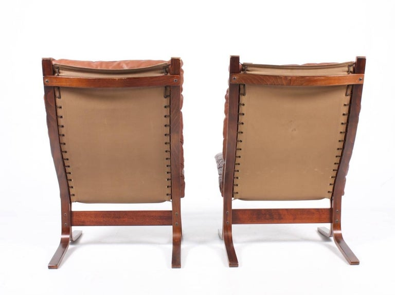 Norwegian Pair of Lounge Chairs by Ingmar Relling For Sale