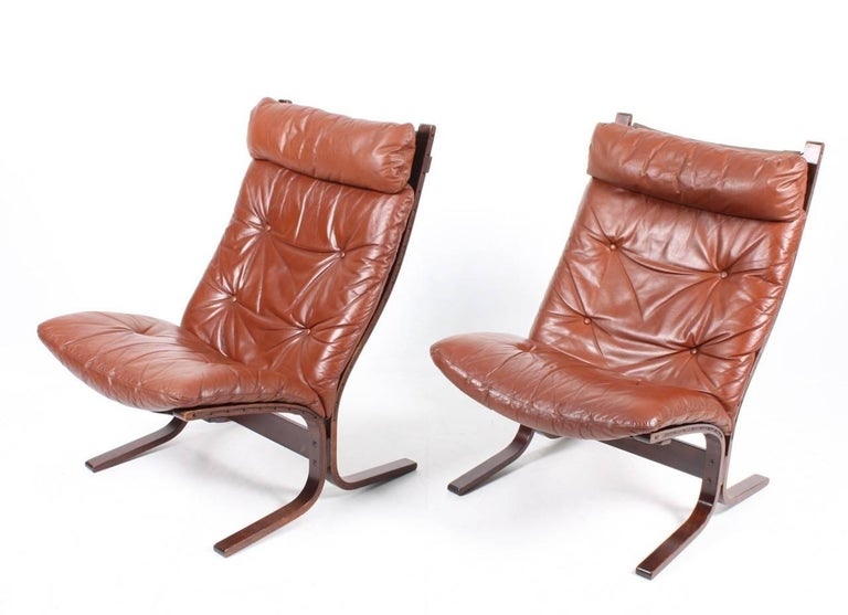 Pair of Lounge Chairs by Ingmar Relling In Excellent Condition For Sale In Lejre, DK