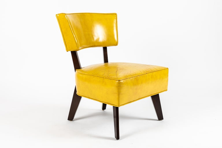 Mid-Century Modern Pair of Low Chairs Designed by William Haines For Sale
