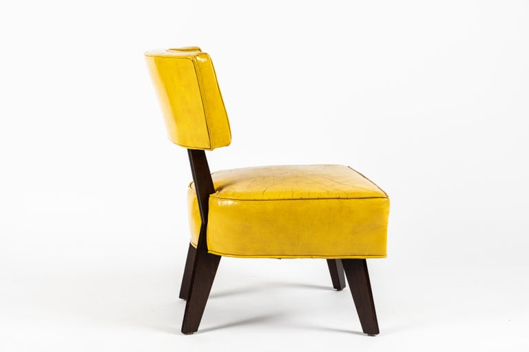 American Pair of Low Chairs Designed by William Haines For Sale