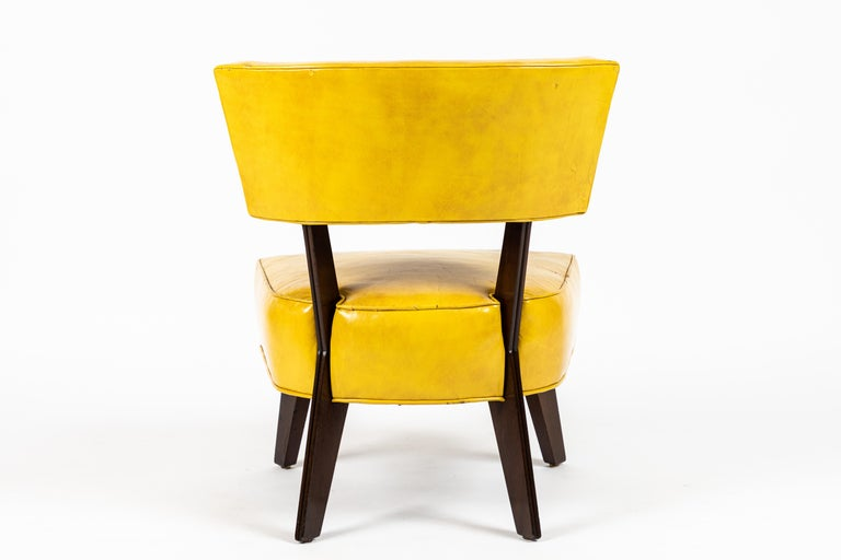 Polished Pair of Low Chairs Designed by William Haines For Sale
