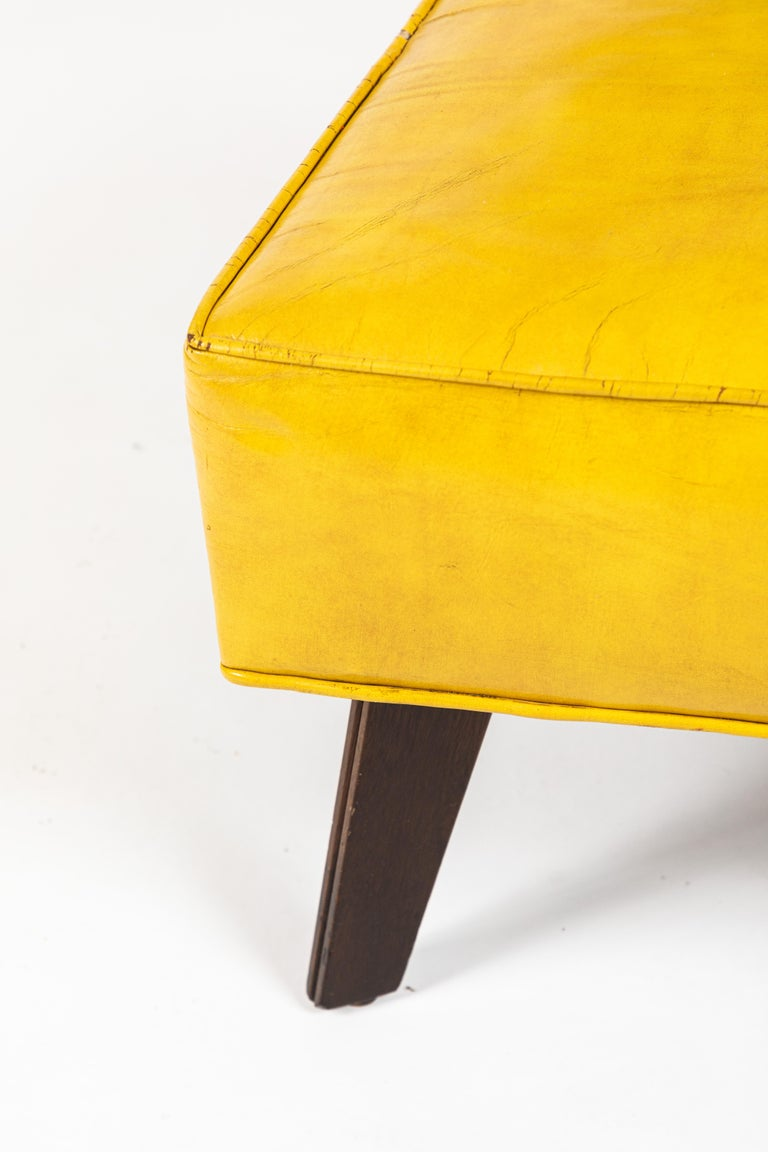 Leather Pair of Low Chairs Designed by William Haines For Sale