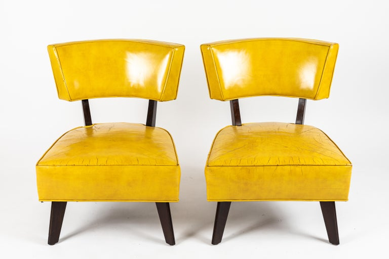 Pair of Low Chairs Designed by William Haines For Sale 1