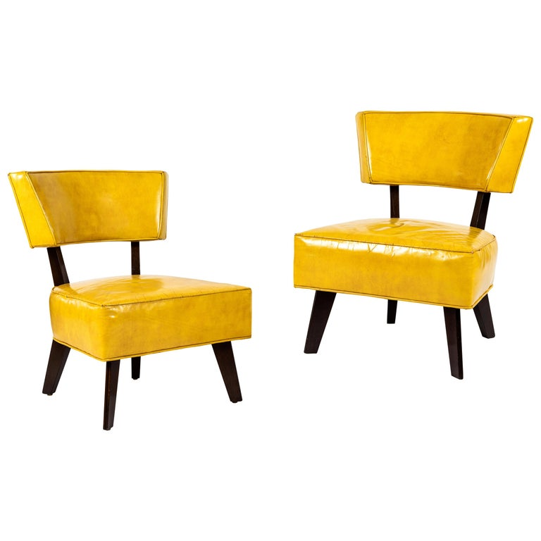 Pair of Low Chairs Designed by William Haines For Sale