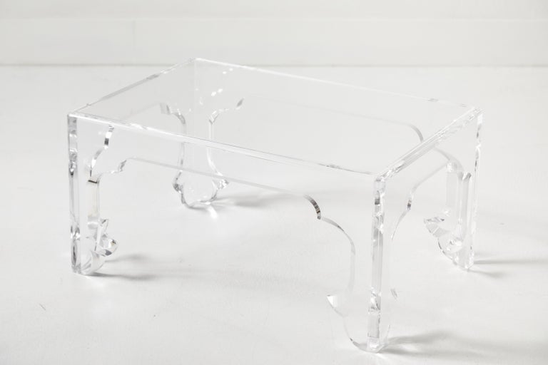 Polished Pair of Lucite