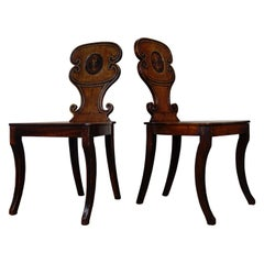 Pair of Mahogany Regency Hall Chairs