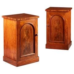 Pair of Mid 19th Century Mahogany Bedside Pedestals