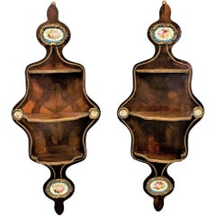 Pair of Mid-19th Century Rosewood Veneered French Wall Brackets