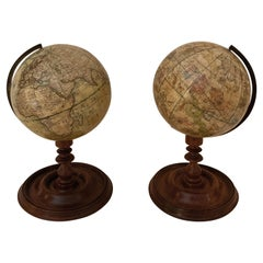 Pair of Mid 19th Century Terrestrial and Celestial Globes by Newtons London