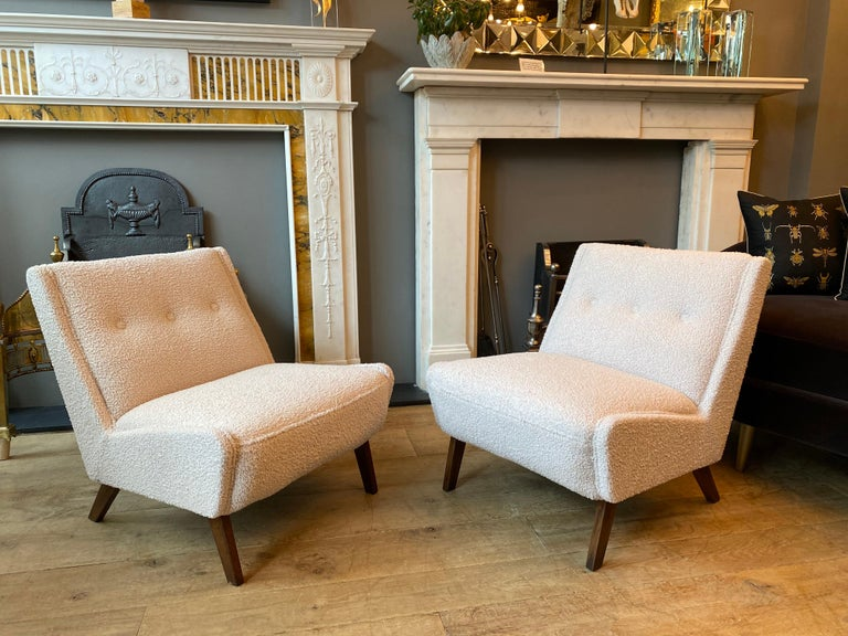 English Pair of Mid-Century Modern Chairs by Ernest Race  For Sale