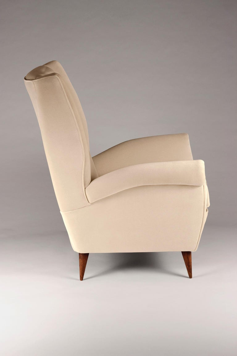 English Pair of Mid-Century Modern Inspired Italian Style 'Marcello' Lounge Chairs For Sale