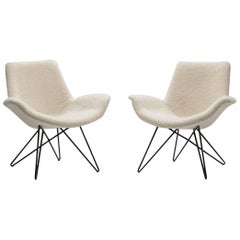 Pair of Mid-Century Modern Lounge Chairs, Europe, 1950s