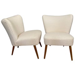Pair of Midcentury Scandinavian Lounge or Cocktail Chairs
