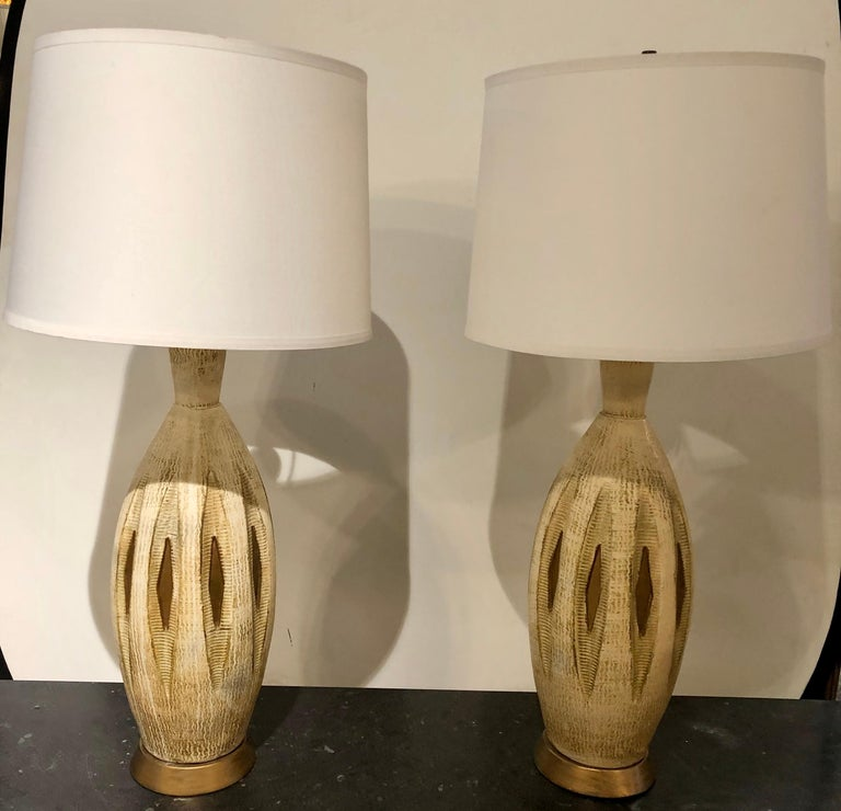 Italian Pair of Mid-Century Modern Table Lamps For Sale