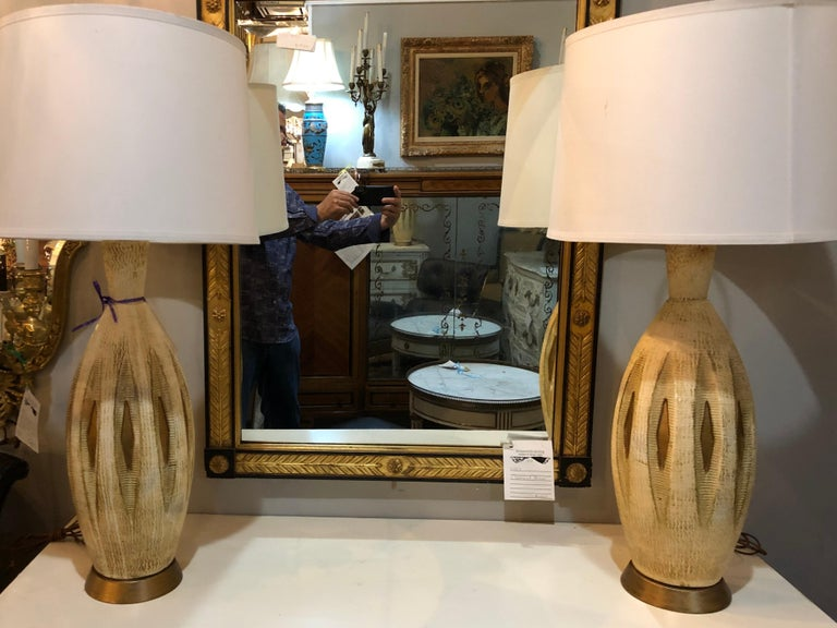 Mid-20th Century Pair of Mid-Century Modern Table Lamps For Sale