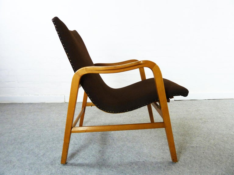 Pair of Midcentury Plywood Chairs, Convertible Easy Chairs from Lübke, Germany For Sale 11