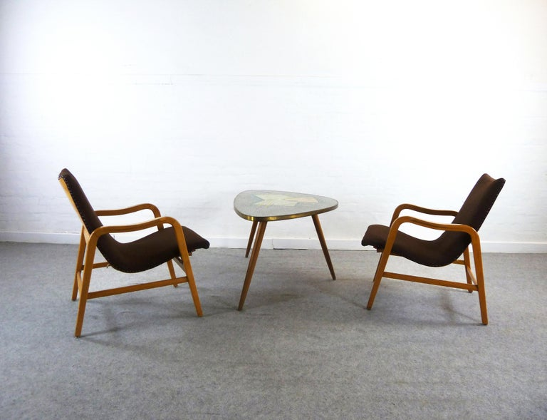 Pair of Midcentury Plywood Chairs, Convertible Easy Chairs from Lübke, Germany For Sale 13