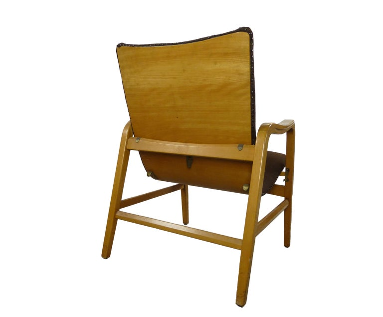 Pair of Midcentury Plywood Chairs, Convertible Easy Chairs from Lübke, Germany For Sale 1