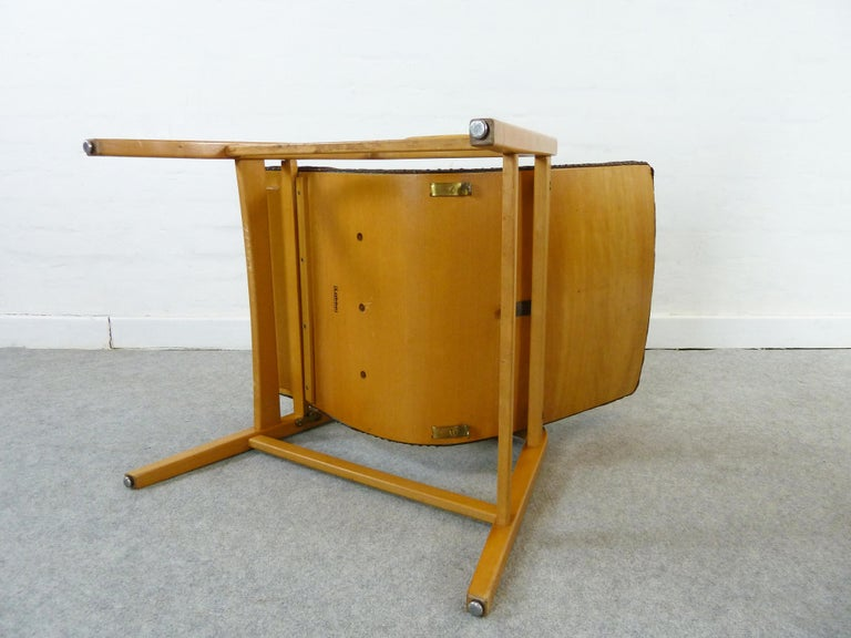 Pair of Midcentury Plywood Chairs, Convertible Easy Chairs from Lübke, Germany For Sale 2