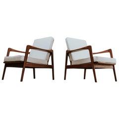 Pair of Midcentury Wooden Armchairs