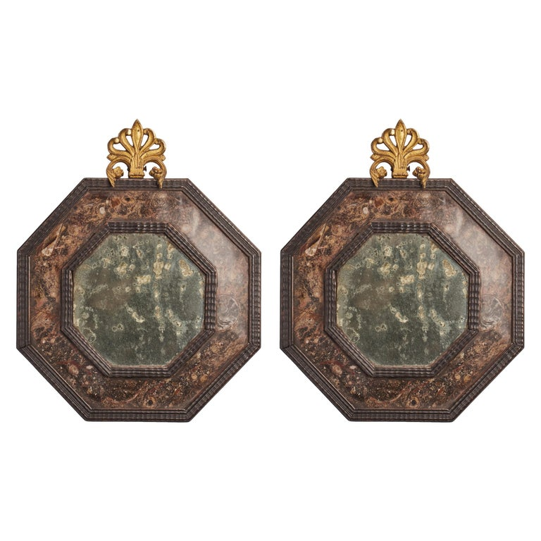 Pair of Mirrors, Italy, 1800 For Sale