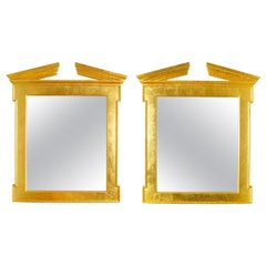 Pair of Modern Regency Style Giltwood Mirrors