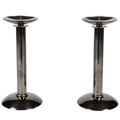 Pair of Modernist Candlesticks by Karl Springer