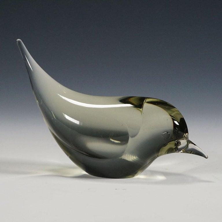 Pair of Murano Glass Birds Designed by Livio Seguso, circa 1970s In Good Condition For Sale In Berghuelen, DE