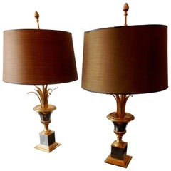 Pair of Neoclassical Table Lamps Attributed to Maison Charles, France, 1960