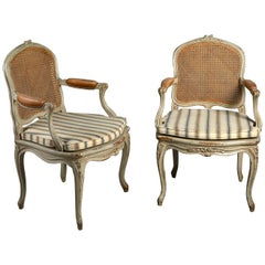 Pair of 19th Century Rococo Revival Armchairs in the Louis XV Taste