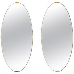 Pair of Nordiska Kompaniet Mirrors, Sweden, 1940s
