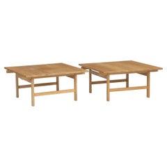 Pair of Oak Coffee Tables by Hans J. Wegner