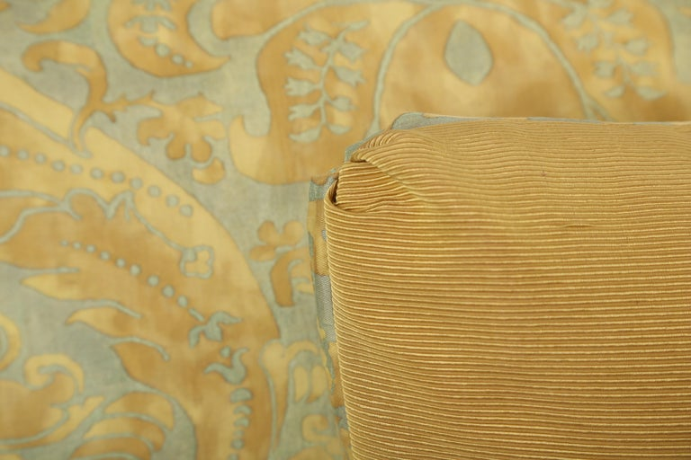 Italian Fortuny Oblong Cushions in the