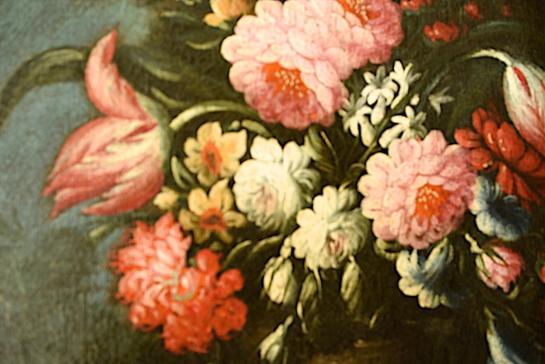 Pair of Oval Still Lifes Attributed to the Early 19th C Milanese School, c1820 For Sale 3