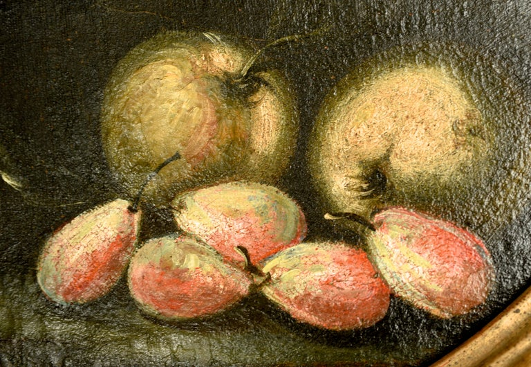 Pair of Oval Still Lifes Attributed to the Early 19th C Milanese School, c1820 In Good Condition For Sale In valatie, NY