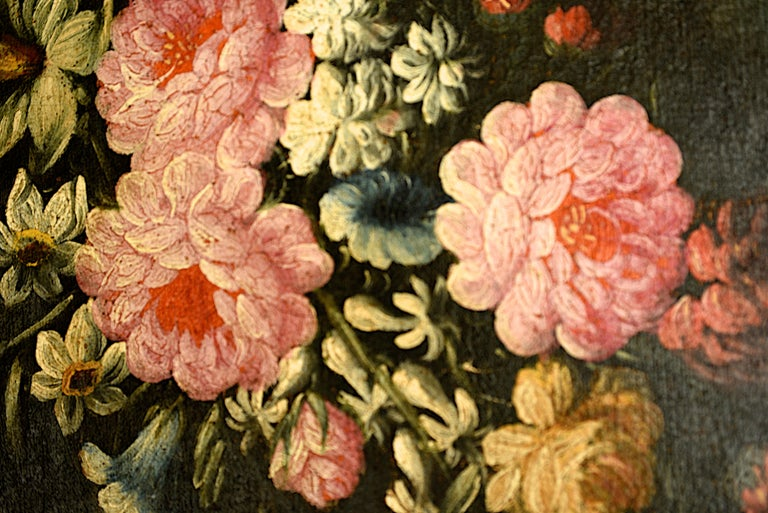 Canvas Pair of Oval Still Lifes Attributed to the Early 19th C Milanese School, c1820 For Sale